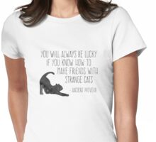 Friends with Strange Cats Womens Fitted T-Shirt