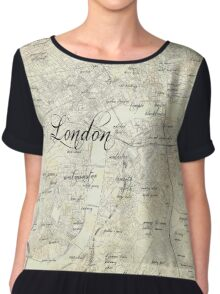 Steampunk London Map Chiffon Top