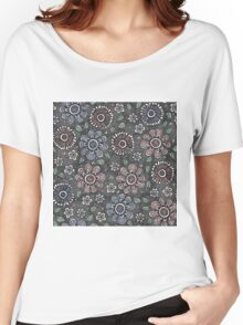 Sketchy Flowers Women's Relaxed Fit T-Shirt