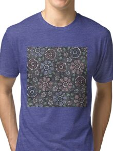 Sketchy Flowers Tri-blend T-Shirt