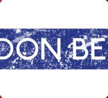 London Below Sticker