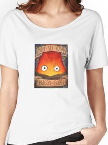 Howl's Moving Castle Illustration - CALCIFER (original)  Women's Relaxed Fit T-Shirt