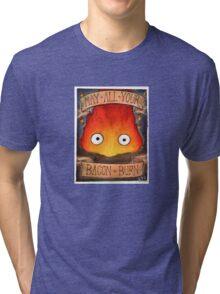 Howl's Moving Castle Illustration - CALCIFER (original)  Tri-blend T-Shirt