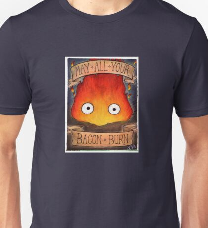 Howl's Moving Castle Illustration - CALCIFER (original)  Unisex T-Shirt