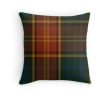 00352 Roscommon County District Tartan  Throw Pillow