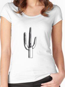 cactus, desert big design green cool Women's Fitted Scoop T-Shirt