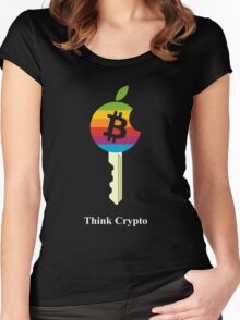 Bitcoin - Think Crypto Women's Fitted Scoop T-Shirt