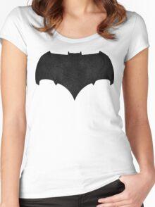 New Batman Suit symbol Women's Fitted Scoop T-Shirt