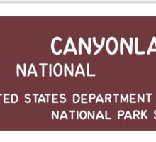 Canyonlands National Park Sign, Utah, USA Sticker