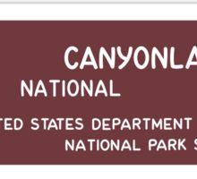 Canyonlands National Park Sign, Utah, USA Sticker