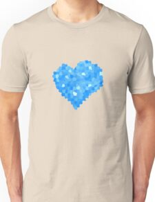 Winter Blue Crystallized Abstract Heart Unisex T-Shirt