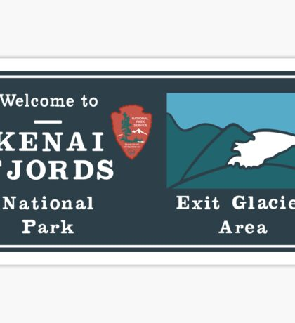 Kenai Fjords National Park Sign, Alaska, USA Sticker