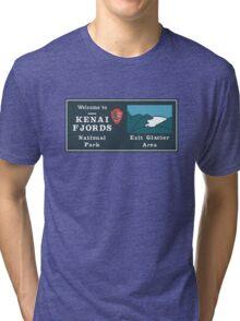 Kenai Fjords National Park Sign, Alaska, USA Tri-blend T-Shirt