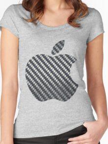 Apple Carbon Fiber Women's Fitted Scoop T-Shirt