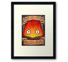 Studio Ghilbi Illustration: CALCIFER #3 Framed Print