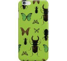 Green bugs iPhone Case/Skin