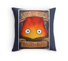 Studio Ghibli Illustration: CALCIFER #2 Throw Pillow