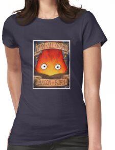 Studio Ghibli Illustration: CALCIFER #2 Womens Fitted T-Shirt