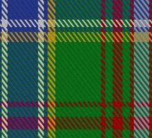 00372 Currie of Arran Clan/Family Tartan  Sticker