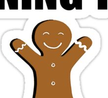 Gingerbread Running Team Sticker