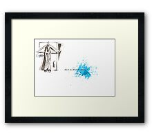 Think about 7... Framed Print