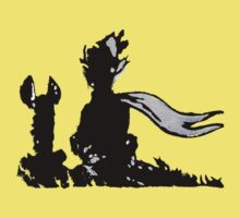 The LITTLE PRINCE and the FOX - stencil grey version One Piece - Short Sleeve