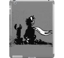 The LITTLE PRINCE and the FOX - stencil grey version iPad Case/Skin