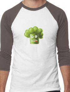 Funny Broccoli Pattern Men's Baseball ¾ T-Shirt