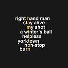Hamilton - Light Text by agnesoswald
