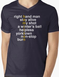 Hamilton - Light Text Mens V-Neck T-Shirt