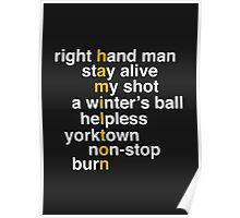 Hamilton - Light Text Poster