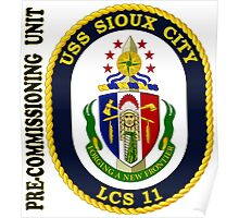 LCS-11 USS Sioux City Pre-Commissioning Unit Poster