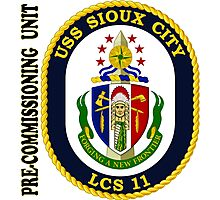 LCS-11 USS Sioux City Pre-Commissioning Unit Photographic Print