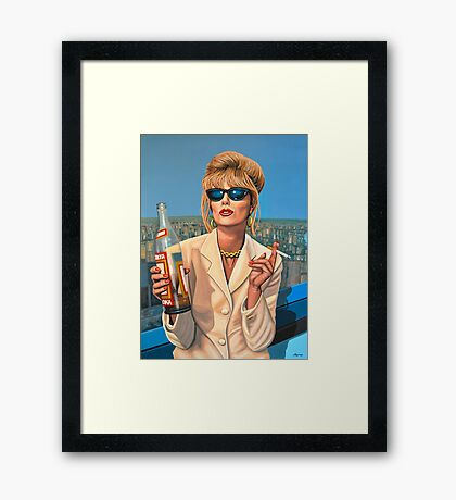 Joanna Lumley as Patsy Stone painting Framed Print