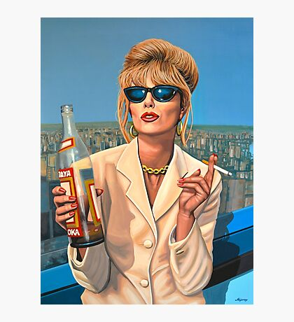 Joanna Lumley as Patsy Stone painting Photographic Print