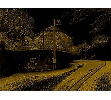 Lane Through Cockington Village Photographic Print