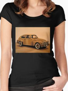 Volvo PV Painting Women's Fitted Scoop T-Shirt