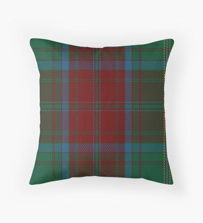 00392 Brewer Tartan  Throw Pillow