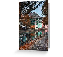 A Leafy Lane in Strasbourg  Greeting Card