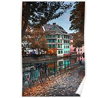 A Leafy Lane in Strasbourg  Poster