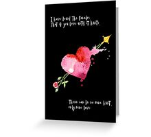 Love Hurts Paradox Greeting Card