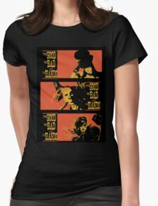 The Good the Bad and the Fat Hands. Womens Fitted T-Shirt