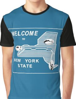 Welcome to New York State, Vintage Road Sign 70s, USA Graphic T-Shirt