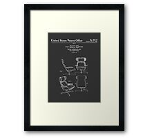 Iconic Mid Century Design Eames Lounge Chair Patent Drawings Framed Print