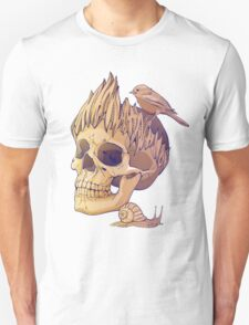colorful illustration with skull, bird and snail T-Shirt