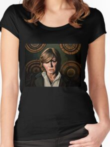 Marianne Faithfull Painting Women's Fitted Scoop T-Shirt
