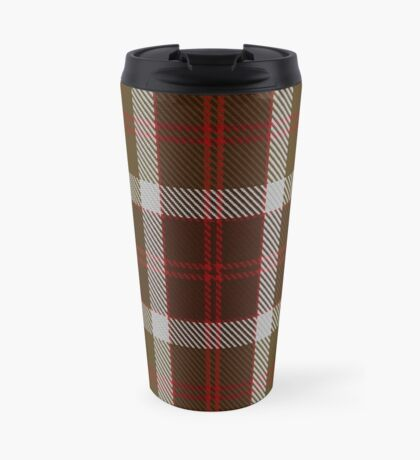 00398 Bannockbane Brown Tartan #1 Travel Mug