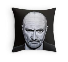 Phil Collins painting Throw Pillow