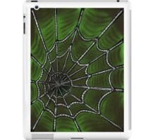 Deep Green Web iPad Case/Skin