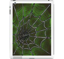 Deep Green Web iPad Case/Skin
